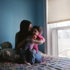 Tatiana and her daughter.