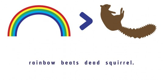 Rainbow Beats Dead Squirrel
