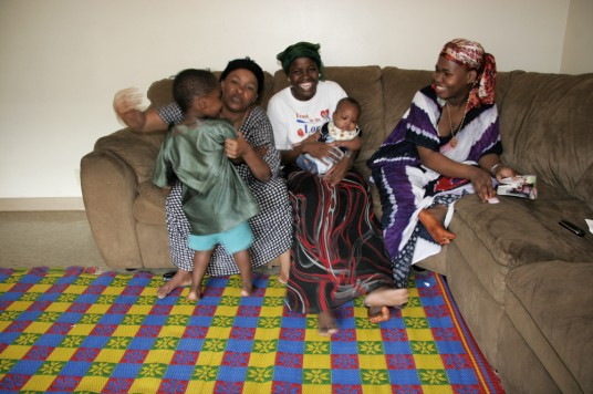 Oliya, her baby, and Zeinab, her mom, and son Ali.